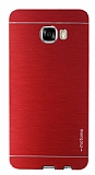 Motomo Samsung Galaxy C7 SM-C7000 Metal Kırmızı Rubber Kılıf