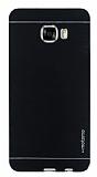 Motomo Samsung Galaxy C7 SM-C7000 Metal Siyah Rubber Kılıf