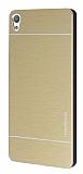 Motomo Sony Xperia E5 Metal Gold Rubber Kılıf