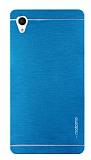 Motomo Sony Xperia M4 Aqua Metal Mavi Rubber Kılıf