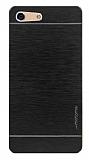 Motomo Sony Xperia M5 Metal Siyah Rubber Kılıf
