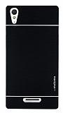Motomo Sony Xperia T3 Metal Siyah Rubber Kılıf
