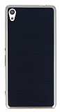 Motomo Sony Xperia XA Ultra Gold Kenarlı Siyah Silikon Kılıf