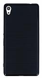 Motomo Sony Xperia XA Ultra Siyah Kenarlı Siyah Silikon Kılıf