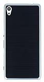 Motomo Sony Xperia XA Ultra Silver Kenarlı Siyah Silikon Kılıf