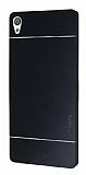 Motomo Sony Xperia XA Ultra Metal Siyah Rubber Kılıf