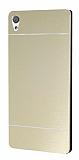 Motomo Sony Xperia XA Ultra Metal Gold Rubber Kılıf
