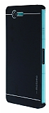 Motomo Sony Xperia Z3 Compact Slim Metal Siyah Rubber Kılıf