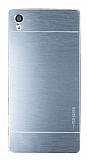Motomo Sony Xperia Z5 Premium Metal Siver Rubber Kılıf
