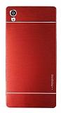 Motomo Sony Xperia Z5 Premium Metal Kırmızı Rubber Kılıf