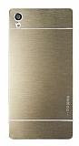 Motomo Sony Xperia Z5 Premium Metal Gold Rubber Kılıf