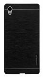 Motomo Sony Xperia Z5 Premium Metal Siyah Rubber Kılıf