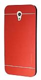 Motomo Vodafone Smart 7 Style Metal Kırmızı Rubber Kılıf
