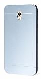Motomo Vodafone Smart 7 Style Metal Silver Rubber Kılıf