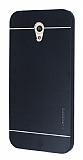Motomo Vodafone Smart 7 Style Metal Siyah Rubber Kılıf