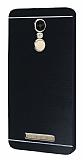 Motomo Xiaomi Redmi Note 3 Metal Siyah Rubber Kılıf