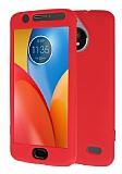 Motorola Moto E4 360 Derece Koruma Likit Kırmızı Silikon Kılıf