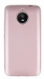 Motorola Moto E4 Plus Mat Rose Gold Silikon Kılıf