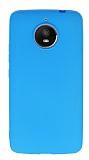 Motorola Moto E4 Plus Mat Mavi Silikon Kılıf