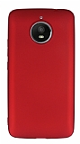 Motorola Moto E4 Plus Mat Kırmızı Silikon Kılıf
