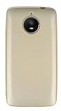 Motorola Moto E4 Plus Mat Gold Silikon Kılıf