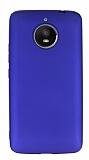 Motorola Moto E4 Plus Mat Lacivert Silikon Kılıf