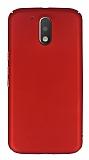 Motorola Moto G4 Plus Tam Kenar Koruma Kırmızı Rubber Kılıf