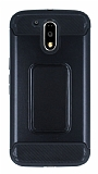 Motorola Moto G4 / G4 Plus Ultra Koruma Siyah Kılıf