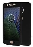 Motorola Moto G5 360 Derece Koruma Likit Siyah Silikon Kılıf