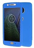 Motorola Moto G5 360 Derece Koruma Likit Mavi Silikon Kılıf