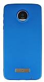 Motorola Moto Z Mat Mavi Silikon Kılıf