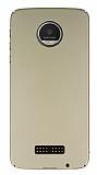Motorola Moto Z Play Tam Kenar Koruma Gold Rubber Kılıf