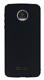 Motorola Moto Z Play Tam Kenar Koruma Siyah Rubber Kılıf