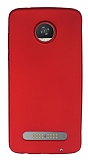 Motorola Moto Z2 Play Mat Kırmızı Silikon Kılıf