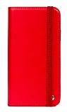 Multi Samsung Galaxy J7 Prime Cüzdanlı Yan Kapaklı Kırmızı Deri Kılıf