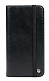 Multi Samsung Galaxy S21 Cüzdanlı Yan Kapaklı Siyah Deri Kılıf