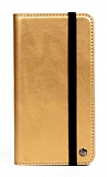 Multi Samsung Galaxy S21 Cüzdanlı Yan Kapaklı Gold Deri Kılıf