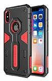 Nillkin Defender iPhone X Ultra Koruma Kırmızı Kılıf
