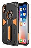 Nillkin Defender iPhone X Ultra Koruma Turuncu Kılıf