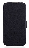 Nillkin Huawei Ascend G610 Yan Kapakl� Siyah Deri K�l�f