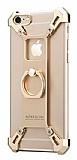 Nillkin iPhone 6 / 6S Selfie Yüzüklü Metal Bumper Gold Kılıf