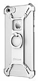 Nillkin iPhone 6 / 6S Selfie Yüzüklü Metal Bumper Silver Kılıf