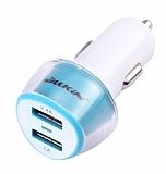 Nillkin Jelly Çift USB Girişli Mavi Araç Şarj Aleti
