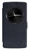 Nillkin LG G3 S / G3 Beat Pencereli Kapaklı Siyah Deri Kılıf