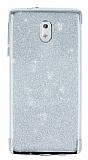 Nokia 3 Simli Silver Silikon Kılıf