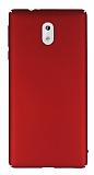 Nokia 3 Tam Kenar Koruma Kırmızı Rubber Kılıf