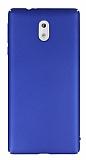 Nokia 3 Tam Kenar Koruma Lacivert Rubber Kılıf
