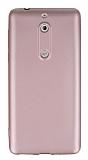 Nokia 5 Mat Rose Gold Silikon Kılıf