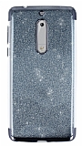 Nokia 5 Simli Siyah Silikon Kılıf