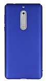 Nokia 5 Tam Kenar Koruma Lacivert Rubber Kılıf